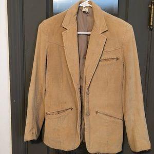 Tan Corduroy two button blazer